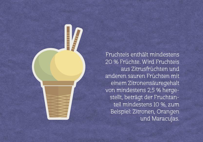 Eiscreme-Fruchteis