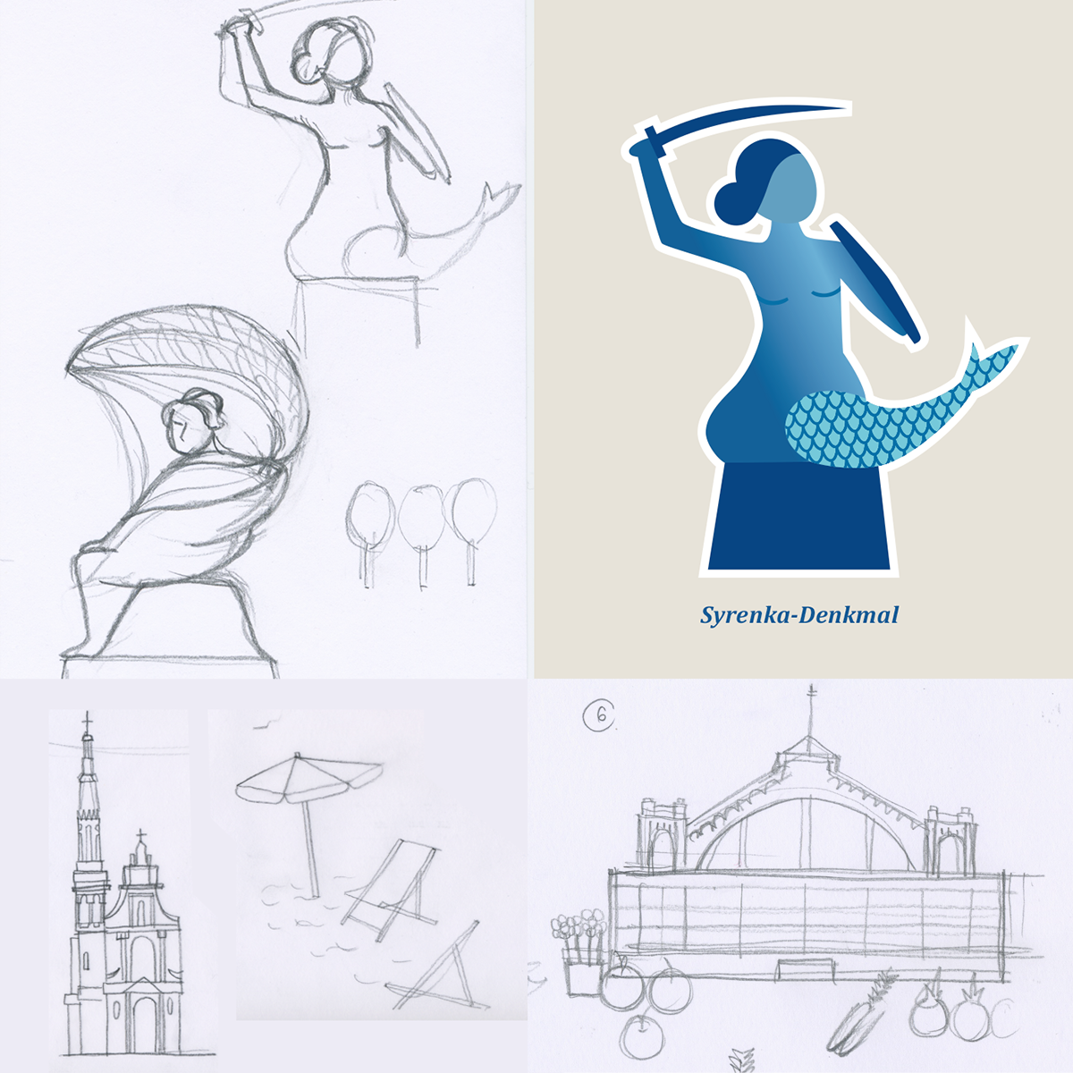 Warszawa-Icons-Skizzen